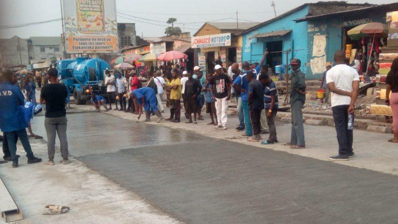 Kinshasa : L'avenue Gambela en cours de bétonnage (Vidéo)