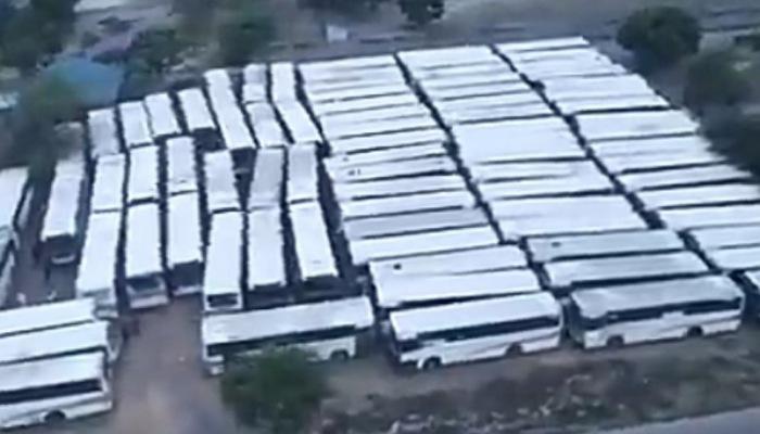 Transport : Découverte de 161 bus Transco sabotés à Kinshasa (Vidéo)